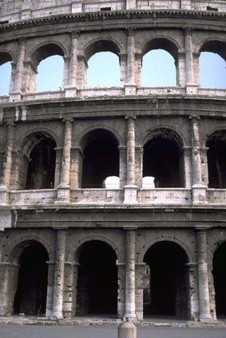 -outside was dominated by Greek orders of columns (Doric, Ionic, .